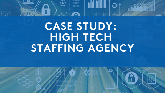 high tech graphics for case study of staffing agency